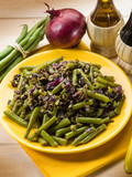 salad with green beans black olives and capers