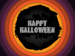 Vector - Halloween Background Circle Grunge Vector