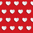 Valentine Day Heart Seamless Pattern Background