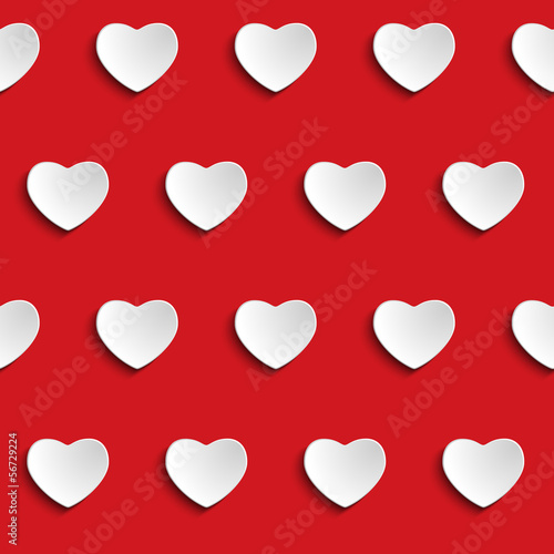 Valentine Day Heart Seamless Pattern Background