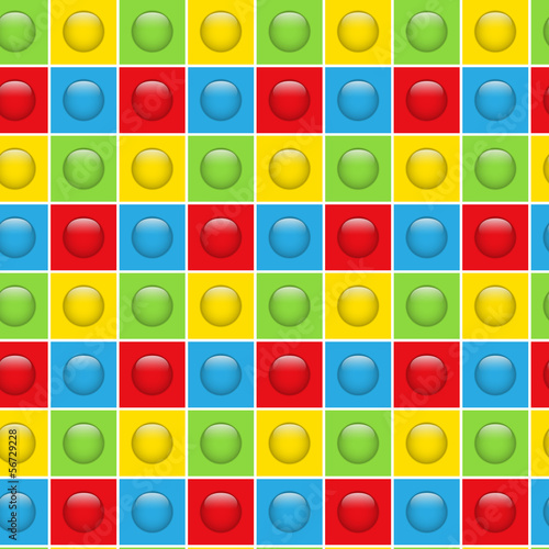 Seamless Colorful Buttons Pattern Background