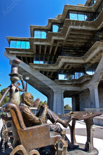 Dr. Seuss at the Geisel Library at UC San Diego; La Jolla