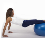 Bridge with Extended Legs on Exercise Ball