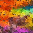 Bright abstract autumn foliage vector background