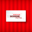 Bright red stripes background with label