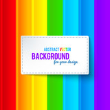 Bright colorful rainbow stripes vector background
