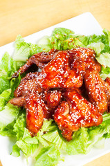 yangnam chicken, korean version of buffalo wings