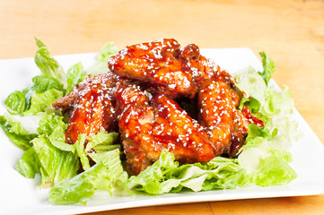 yangnam chicken, korean version of buffalo wings