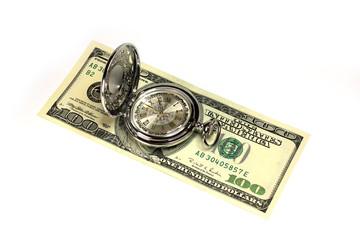 exact watch and bill dollar as symbol financial trade