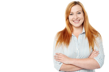 Confident young isolated smiling woman