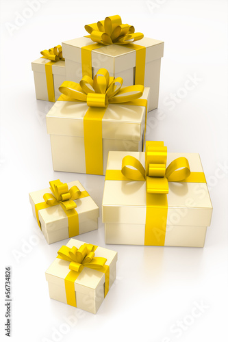 gift boxes yellow