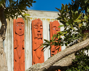 Three Maori Carvings