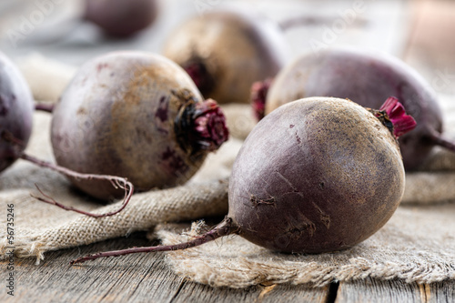 Fresh red beet