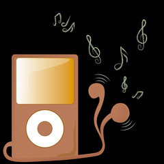 brown music player