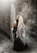 Obrazy na płótnie, fototapety, zdjęcia, fotoobrazy drukowane :  Jesus kneel in prayer