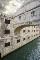 bridge of sighs. Venice. Italy.