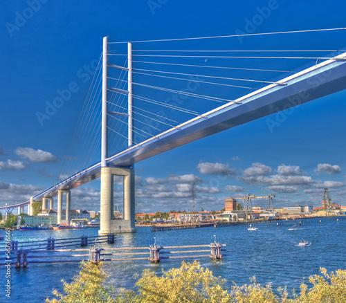 Zdjęcia na płótnie, fototapety, obrazy : Neue Rügenbrücke | Strelasund