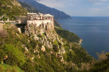 Simonos Petras monastery in the afternoon, Mount Athos