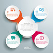Circle Chain Colored Cross Infographic
