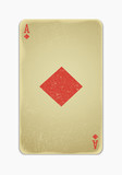 vintage simple background : playing card ace