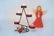 Kerzenständer und Engel