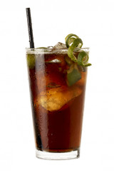 Big Cuba libre rum cocktail
