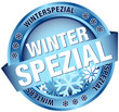 "Button Banner ""Winterspezial"" blau"