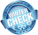 "Button Banner ""Wintercheck"" blau"