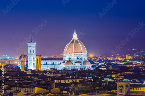 Nice view of florence during evening hours