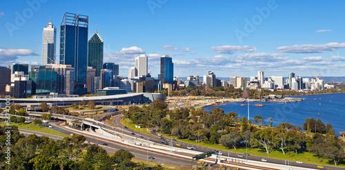 Keuken foto achterwand Australië Perth skyline, west Australia