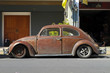 Rusty brown customized Volkswagen Beetle