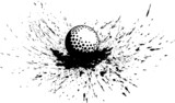 Golf Ball in Splatter