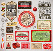 Christmas 2014 Vintage labels and typo collection