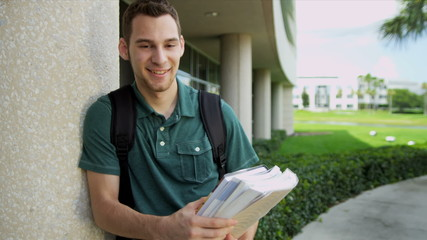 Portrait Male Caucasian Teenage College Student