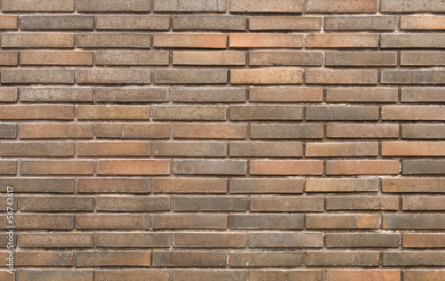 Background of new brick wall in dark tones