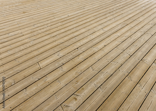 Brown wooden terrace floor