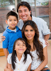 Happy Latin family