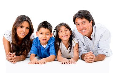 Happy Latinamerican family