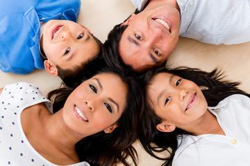 Beautiful hispanic family