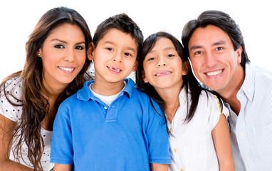 Beautiful family portrait