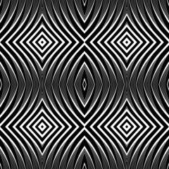 Seamless pattern in op art design.
