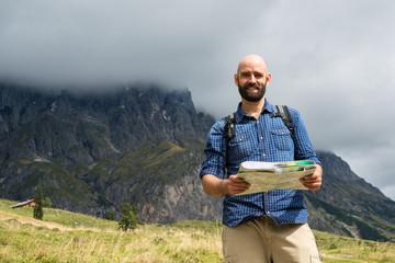 Wanderer in den österreichischen Alpen