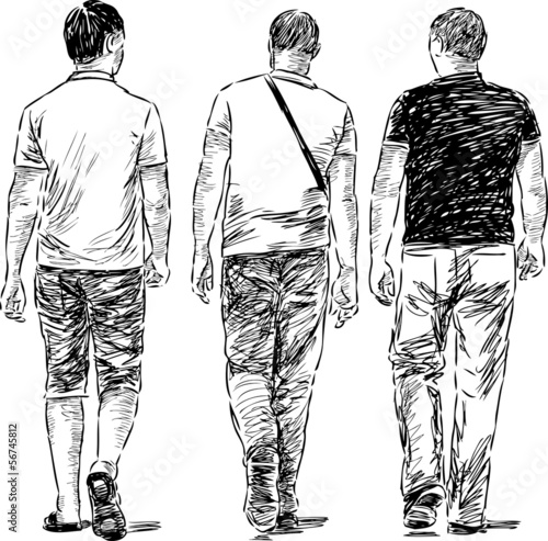 walking men