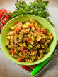 pasta with  zucchinis and tomatoes
