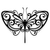 Vector Beautiful Dragonfly. Patterned design, Tattoo