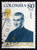 Postage stamp Colombia 1967 Father Felix Restrepo Mejia, Theolog poster