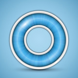 Blue circular progress bar