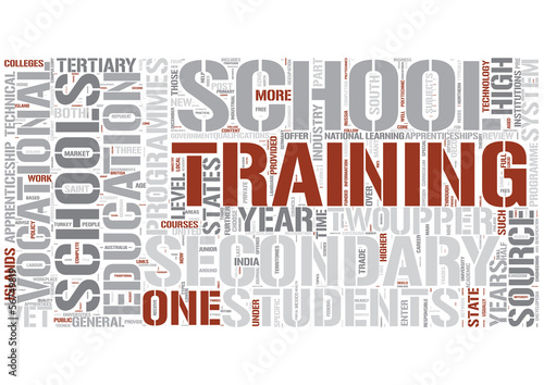 Vocational education Word Cloud Concept