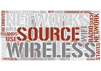 Wireless computing Word Cloud Concept