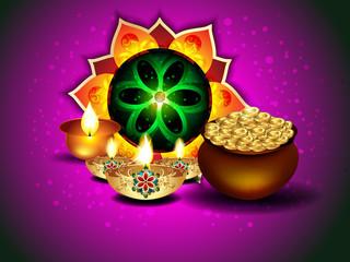 Diwali Background With Rangoli